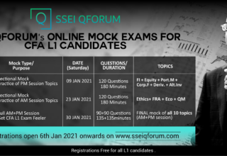 SANJAY SIR ANNOUNCES INDIAS 1st ONLINE MOCK EXAM FOR CFA LEVEL 1 CANDIDATES