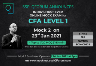 Gear Up Your CFA L1 Prep | Take SSEI QForum's Online Mock Exams | Mock2 on 23rd Jan 2021