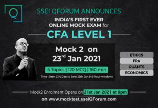Gear Up Your CFA L1 Prep | Take SSEI QForum's Online Mock Exams | Mock2 on 23rd Jan 2021