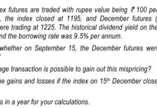 Derivatives ( Futures)