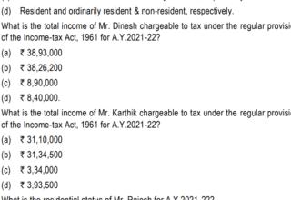Direct tax- RTP May'21- Case scenario 1