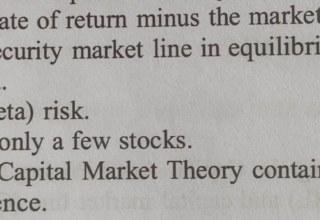 Portfolio management: Risk & Return P2