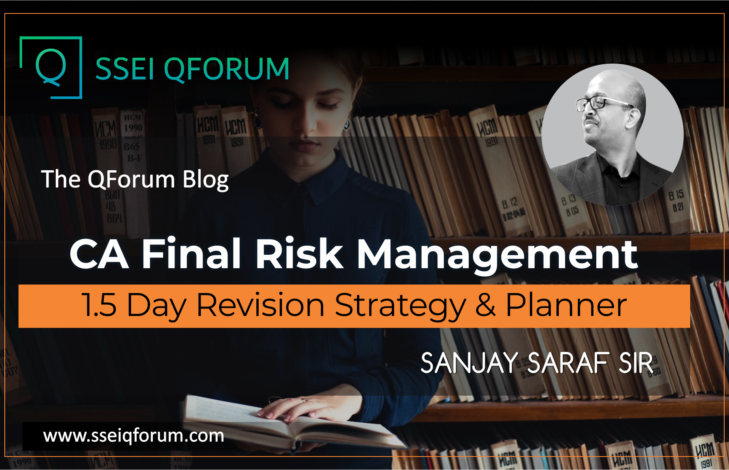 CA Final Risk Management | 1.5 Day Revision Strategy & Planner