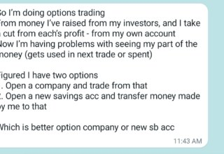 How to clearly segregate the income from options trading ?