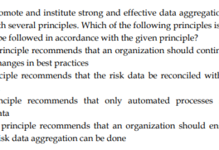 Data Aggregation and Risk Reporting